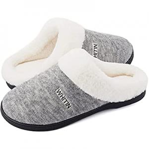 WHITIN Women's Knit Warm Fluffy Memory Foam Soft House Bedroom Slipper now 50.0% off